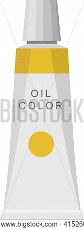 School Stationery Vector Element Painting Oil Pigment Tube