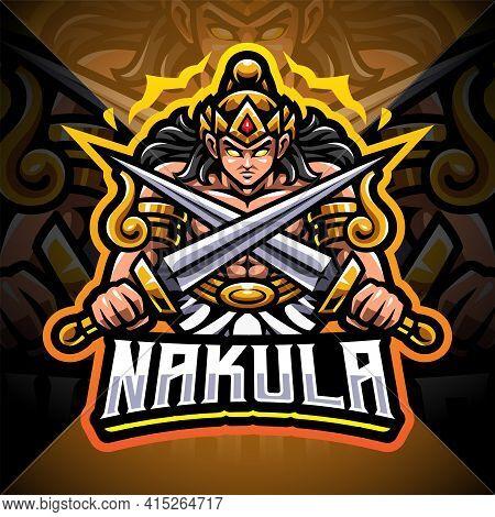 Nakula Esport Mascot Logo Design With Text