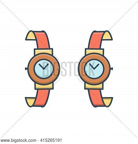 Color Illustration Icon For Brand-design  Brand Design Wrist-watch Branding