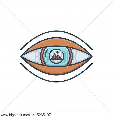 Color Illustration Icon For Visualization  Visual  Imagine Scene Chimera