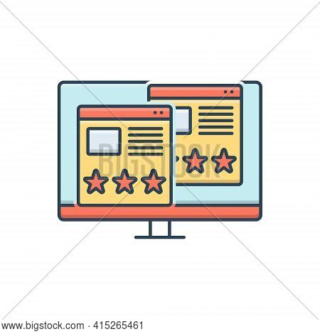 Color Illustration Icon For Usability-evaluation Usability Evaluation  Assessment