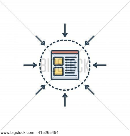 Color Illustration Icon For Specification Management Specific Monochrome