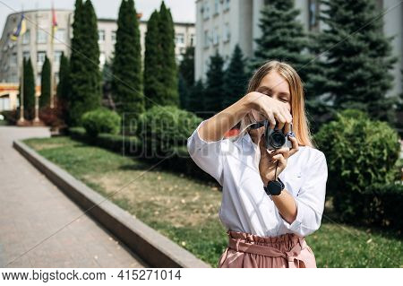 Summer Travel, Summer Social Distant Vacation, Weekend Getaways, Solo Local Travel. Young Woman With