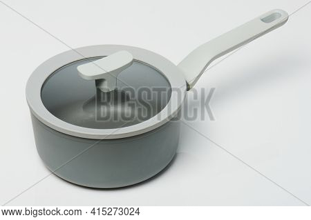 Grey Pot With Cover