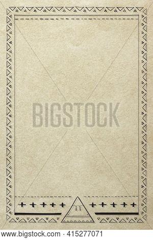 Bohemian style Navajo arrow border frame
