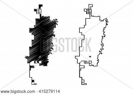 Fargo City, North Dakota (united States Cities, United States Of America, Usa City) Map Vector Illus