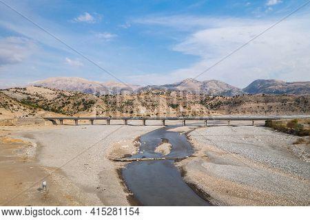 New Bridge Crossing Chabinas Creek, Kahta District, Turkey. Bridge Built Near By Roman Severan Bridg