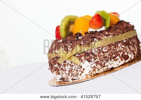 birthday cake isolated over white