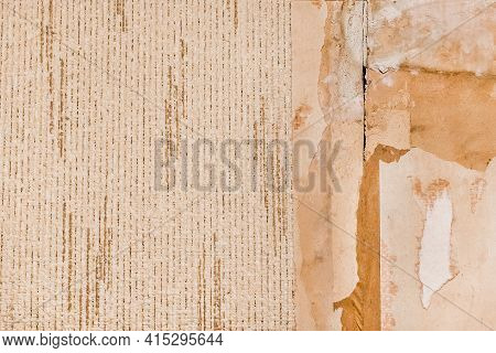 Old Wallpaper Texture Background, House Reconstruction, Wall Repair.