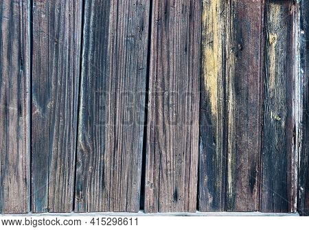 Weathered Striped Textured Obsolete Wooden Planks Background