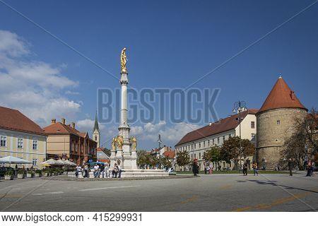 Zagreb, Croatia, September 2016 - Monument In The City Of Zagreb, Croatia