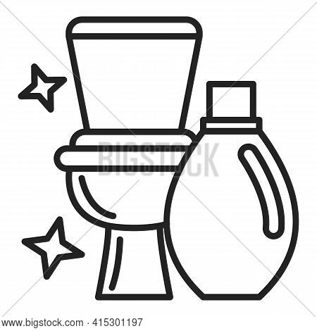 Clean Toilet Vector Isolated Icon. Outlined Symbol
