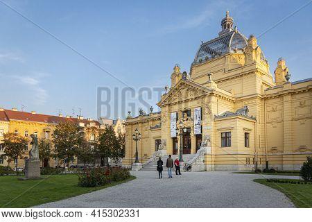 Zagreb, Croatia, September 2016 - Art Pavilion Building In Zagreb, Croatia