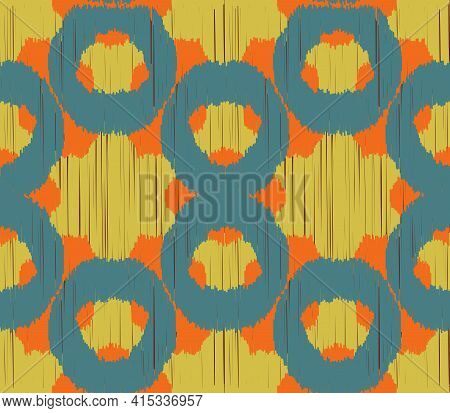 Seamless Ikat Pattern. Abstract  Background For Textile Design, Wallpaper, Surface Textures, Wrappin