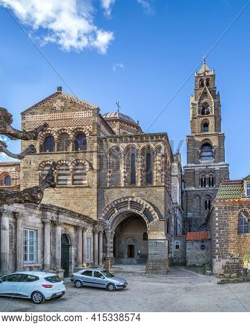 Le Puy Cathedral (cathedral Of Our Lady Of The Annunciation) Is A Roman Catholic Church Located In L