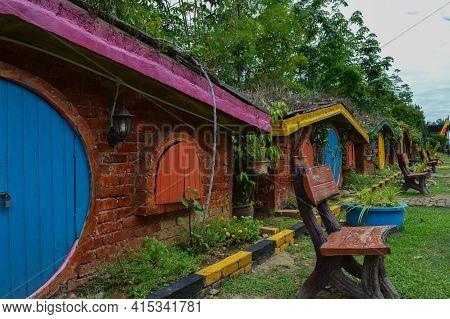 Kuala Selangor, Malaysia: April 2nd 2021-the Hobbit Houses Located In Kuala Selangor, Malaysia. Sele