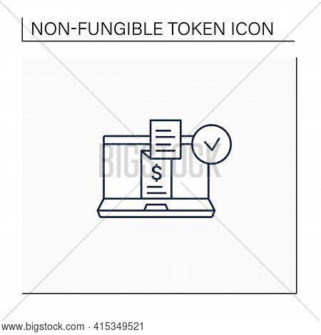 Digital Receipt Line Icon. E-receipt. Application Inform Customers Of Rebates, Discounts. Sent Via E