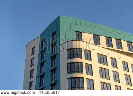 Apartment House. Building Element Of An Apartment Building In The City.