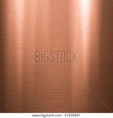 Textura da placa de cobre escovada ou metal fundo