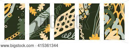 Set Of Editable Instagram Template For Stories. Modern Abstract Cover Design For Social Media, Flyer