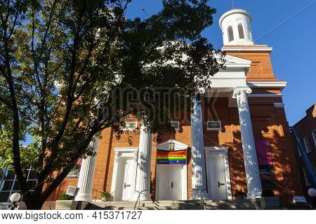 Frederick, Md, Usa 10/14/2020: Historical Building Of Evangelical Reformed United Church Of Christ I