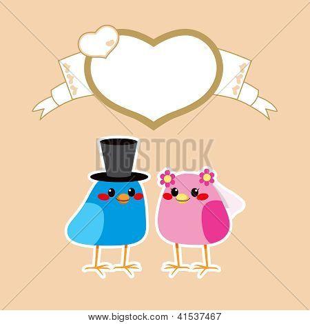 Birds Love Wedding