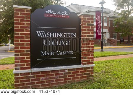 Chestertown, Md, Usa 08/25/2020: The Main Campus Of Washington College, A Private Liberal Arts Colle