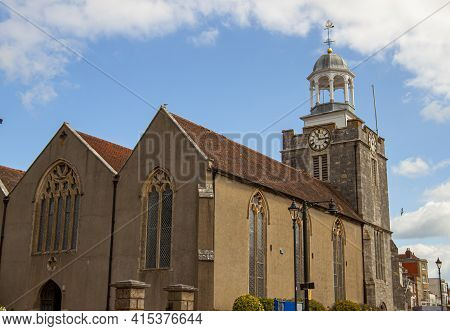 Close Up View Of The Historical Church Of St Thomas The Apostle Which Is  The Largest Anglican Churc