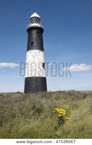 Spurn Point Lighthouse, Humberside, UK.