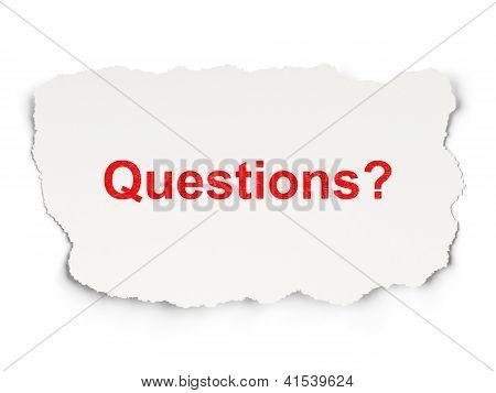 Education concept: Questions?