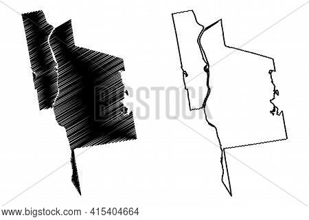 Manchester City, New Hampshire (united States Cities, United States Of America, Usa City) Map Vector