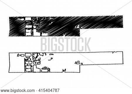 Miramar City, Florida (united States Cities, United States Of America, Usa City) Map Vector Illustra