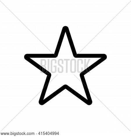 Star Bookmark Symbol Thin Line Icon In Black. Bookmark Browser Concept. Trendy Flat Style Outline Il