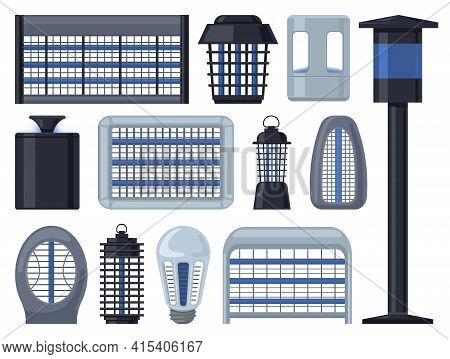 Insect Trap Vector Cartoon Set Icon. Vector Illustration Flytrap On White Background. Isolated Carto