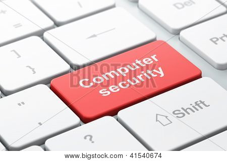 Protection concept: computer keyboard with Computer Security