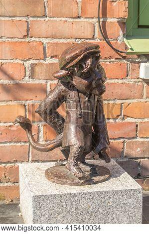 Gdansk, Poland - March 31, 2021: Hewelion Lion Figure.