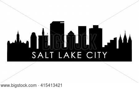 Salt Lake City Skyline Silhouette. Black Salt Lake City Design Isolated On White Background.
