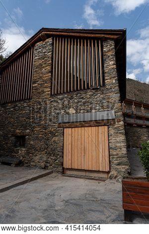 Ordino, Andorra: 2021 March 30: Era Del Rasel In Spring In Ordino, Andorra In The Pyrenees In 2021.