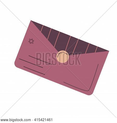 The Envelope For Palmistry Is Isolated On White Background. Flat Vector Illustration With Lines. Eso