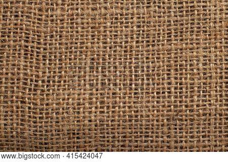 Brown Burlap Texture And Empty Space, Burlap Close Up