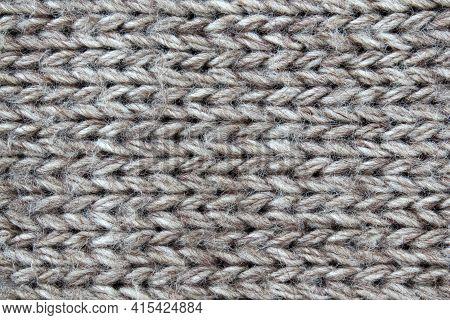 Texture Of Woolen Fabric Close Up, Woolen Fabric