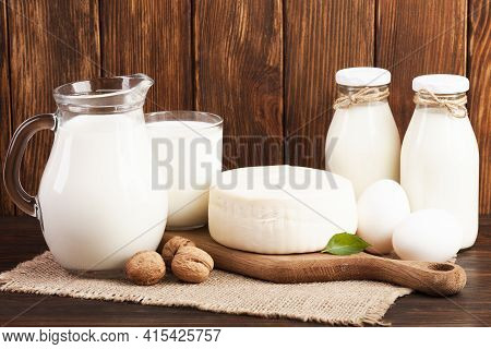 Nutritious Breakfast Based Milk . High Quality And Resolution Beautiful Photo Concept