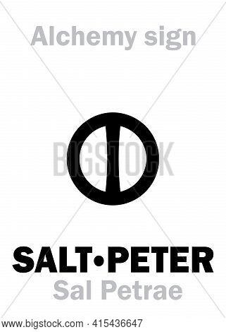 Alchemy Alphabet: Saltpeter / Salt-petre (sal Petrae