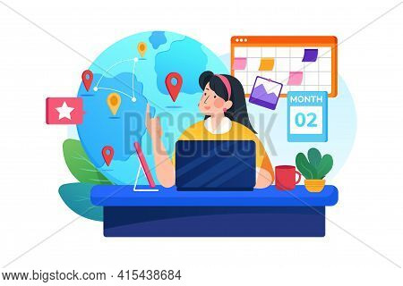 Discover Event Vector Illustration Concept. Can Use For Web Banner, Infographics, Hero Images. Flat