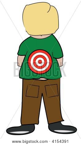 Boy With Target On Back.