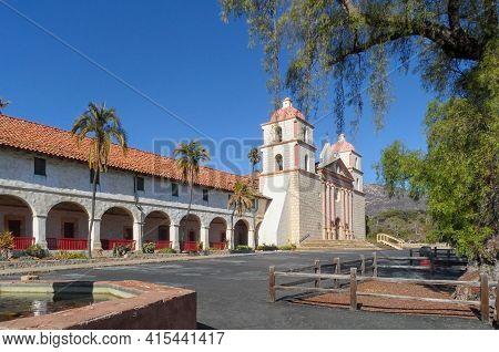 November 14, 2013 , Santa Barbara ,calofornia : View The Old Mission Santa Barbara , California.