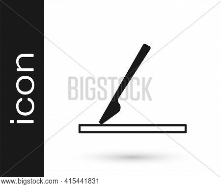 Black Medical Surgery Scalpel Tool Icon Isolated On White Background. Medical Instrument. Vector