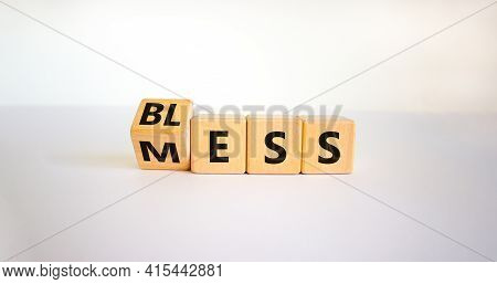 Bless Mess Symbol. Turned The Cube And Changed The Word 'mess' To 'bless'. Beautiful White Table, Wh