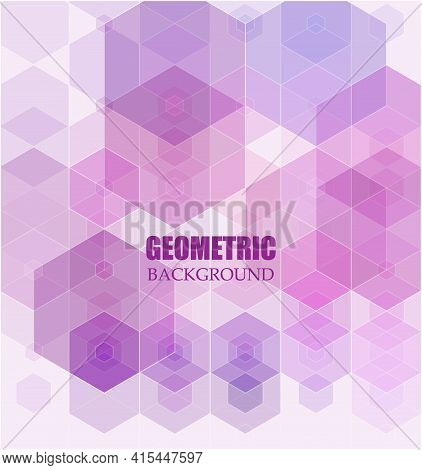 Light Purple Vector Layout With Hexagonal Shapes. Illustration With Set Of Colorful Hexagons.