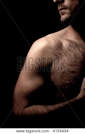 Chest And Arm Partial Nude